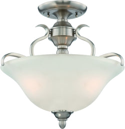 0-000145>McKinney 3-Light Semi Flush/Pendant Light Brushed Polished Nickel