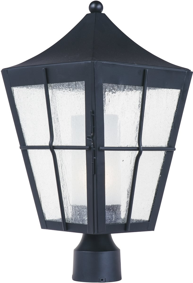 Revere LED 1-Light Outdoor Post Black