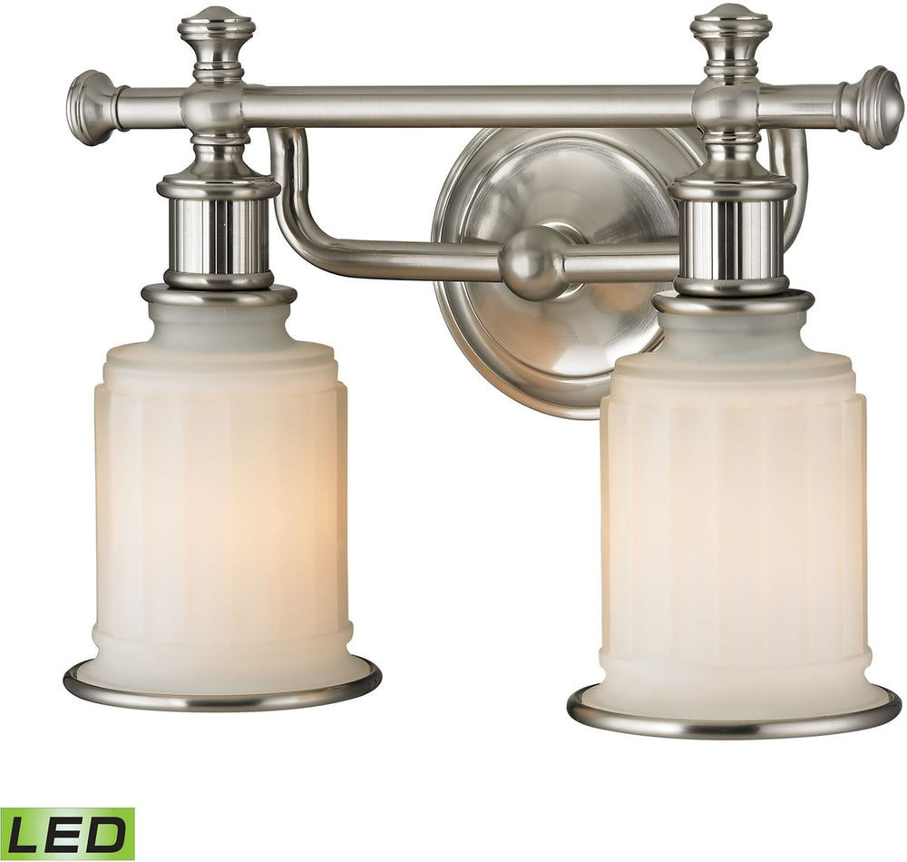 "13""W Acadia 2-Light LED Vanity Brushed Nickel"