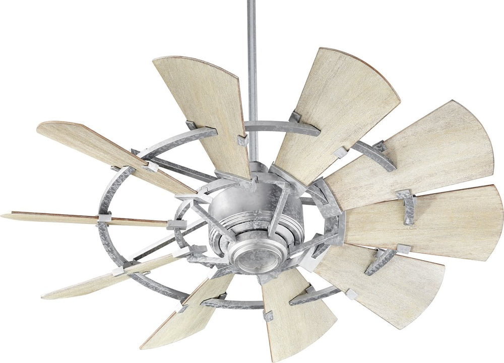 "44""W Windmill Ceiling Fan Galvanized"