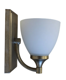 "6""W Enclave 1-light Wall Mount Light Sconce  Aged Silver Leaf"