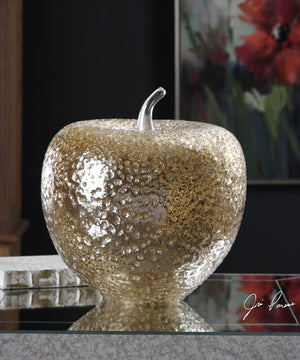 "14""H Golden Apple Sculpture"