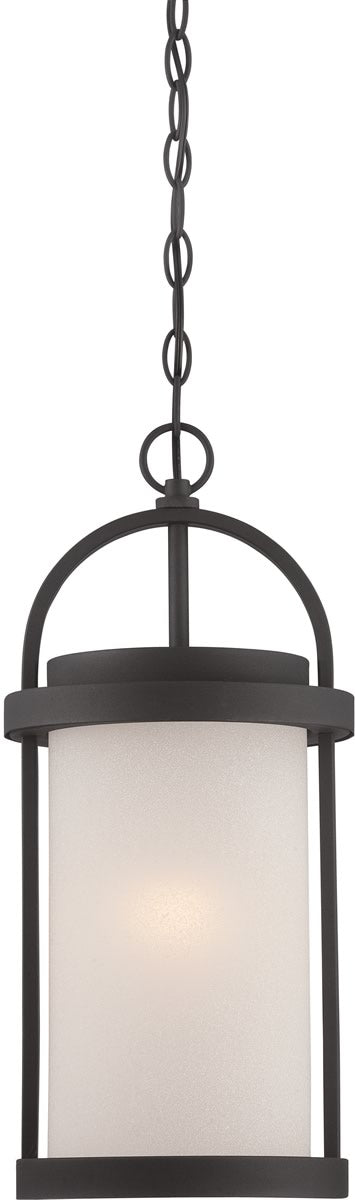 "9""W Willis 1-Light Outdoor Textured Black / Antique White"