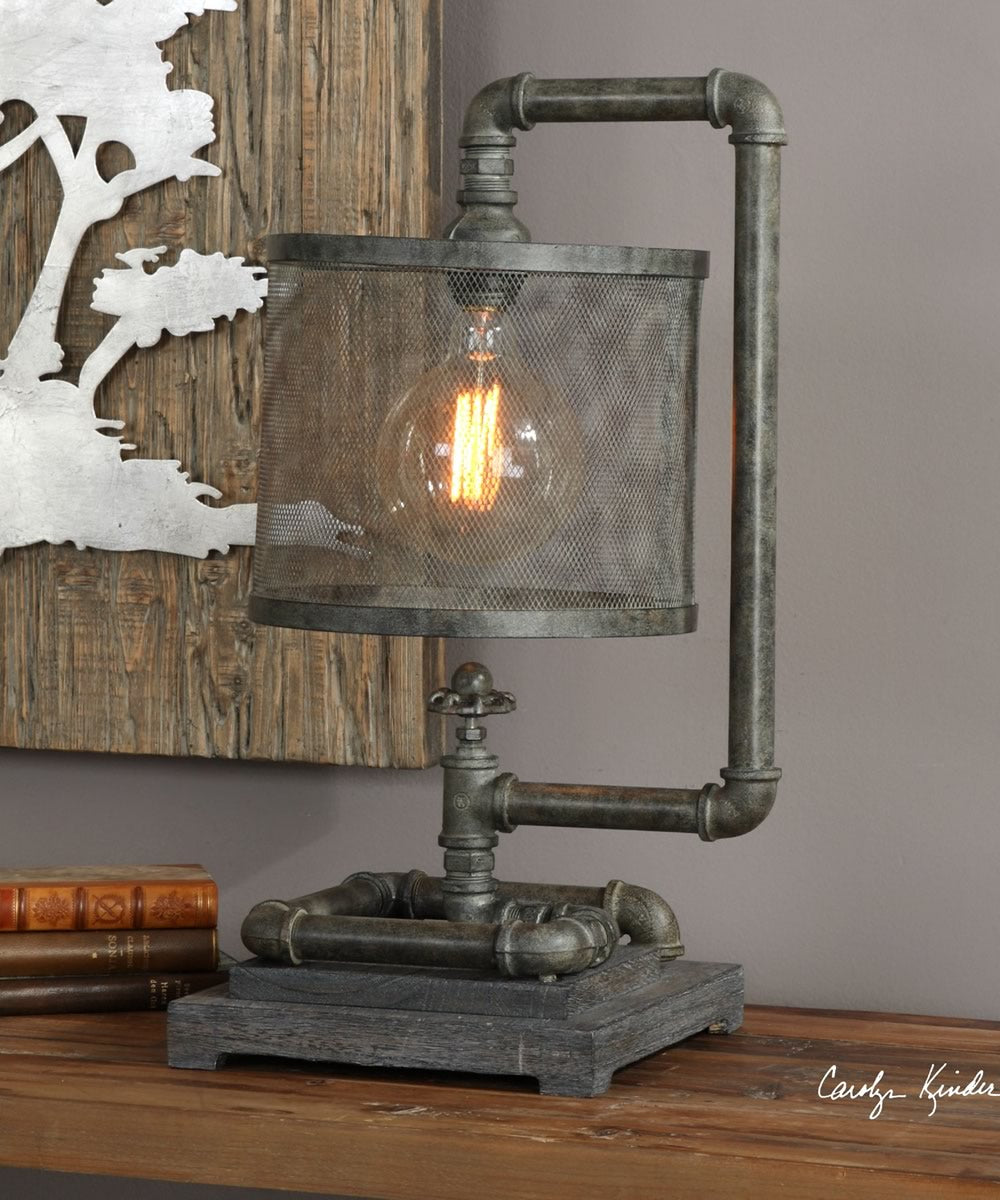 "23""H Bristow Industrial Pipe Lamp"