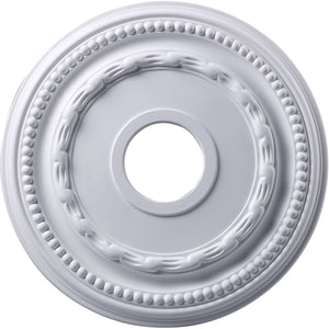 "16""W Campione  Ceiling Medallion White"