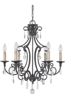 Bentley 6-Light Chandelier Matte Black