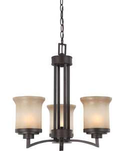 "20""W Harmony 3-Light Chandelier Dark Chocolate Bronze"