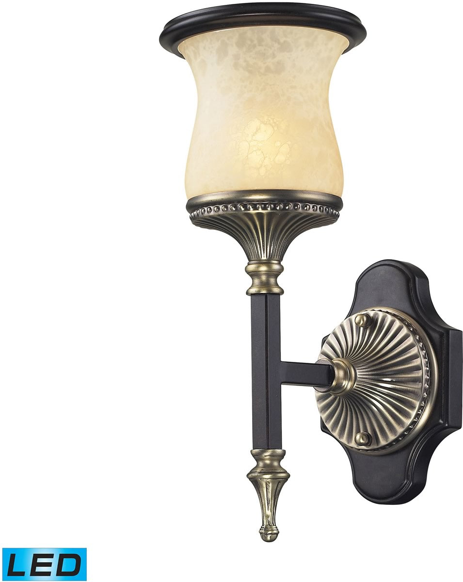 "6""W Georgian Court 1-Light LED Wall Sonce Antique Bronze/Dark Umber"