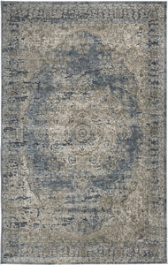 South Medium Rug Blue/Tan 5x7