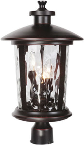 0-012800>Summerhays 3-Light Outdoor Post Light Oiled Bronze Gilded