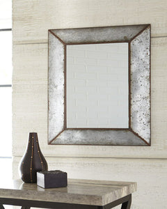 O'Tallay Accent Mirror Antique Gray