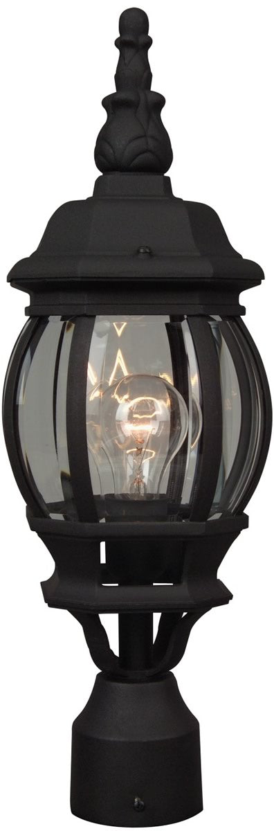 French Style 1-Light Outdoor Post Light Matte Black