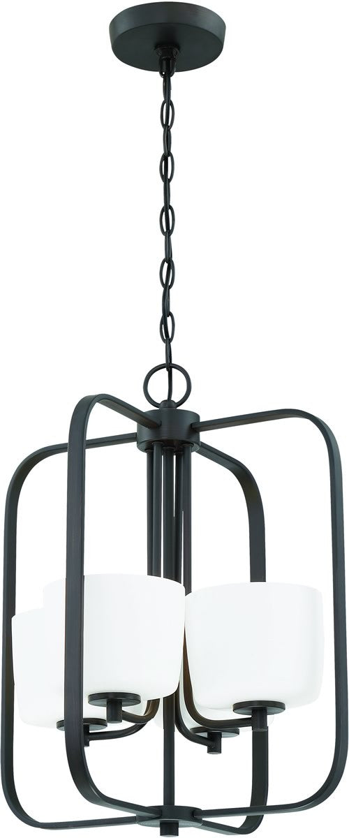 "16""W Clarendon 4-Light Foyer Light Aged Bronze Brushed"