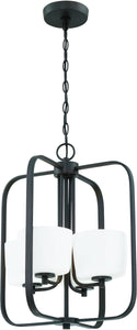 0-002490>Clarendon 4-Light Foyer Light Aged Bronze Brushed