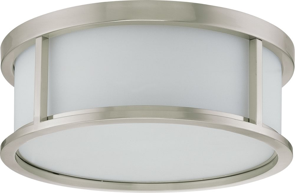"15""W Odeon 3-Light Close-to-Ceiling Brushed Nickel"