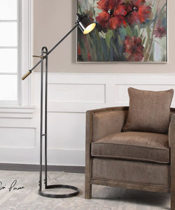 "64""H Chisum Dark Bronze Floor Lamp"