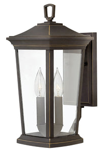 Bromley 2-Light Small Outdoor Wall Light in Oil Rubbed Bronze