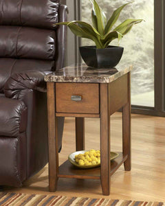 Theo Chairside Table Medium Brown