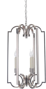 0-008805>Crescent 3-Light Foyer Light Polished Nickel