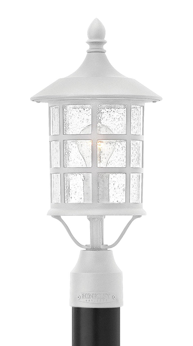 Freeport 1-Light Outdoor Pier Post Light in Classic White