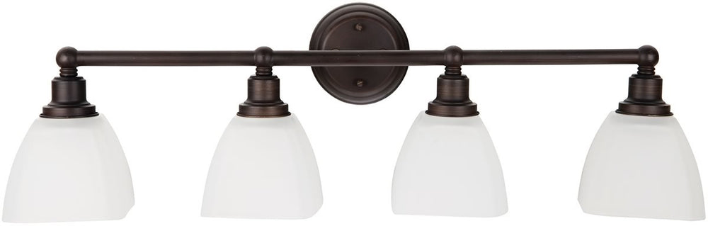 "33""w Bradley 4-Light Bath Vanity Light Bronze"