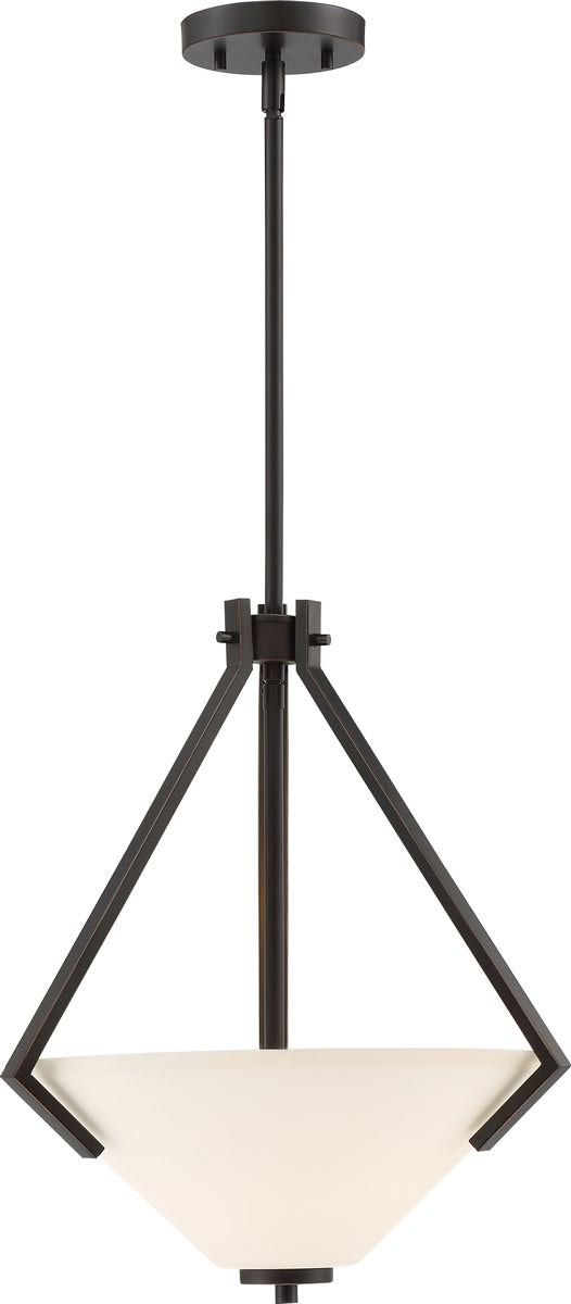 "16""W Nome 2-Light Pendant Mahogany Bronze"