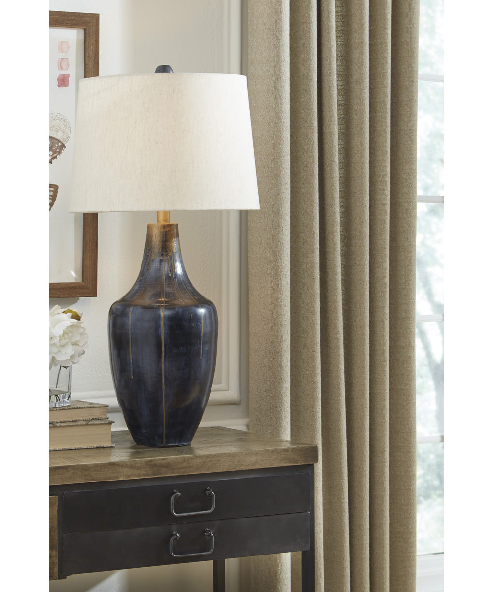 "31""H Evania Metal Table Lamp (1/CN) Indigo"