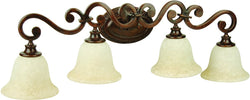 0-009755>Toscana 4-Light Bath Vanity Light Peruvian Bronze