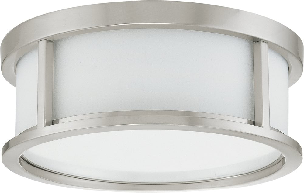 "13""W Odeon 2-Light Close-to-Ceiling Brushed Nickel"