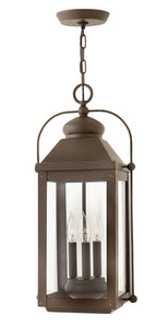 Anchorage 3-Light Outdoor Hanging Light in Light Oiled Bronze