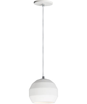 "8""W Hive LED 1-Light Pendant White"