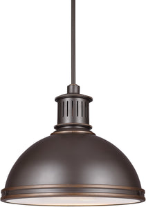 Pratt Street Metal 2-Light LED Pendant Autumn Bronze