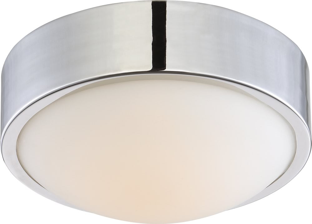 "9""W Perk 1-Light Close-to-Ceiling Polished Nickel"