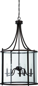 0-008145>Carlton 5-Light Pendant Light Aged Bronze