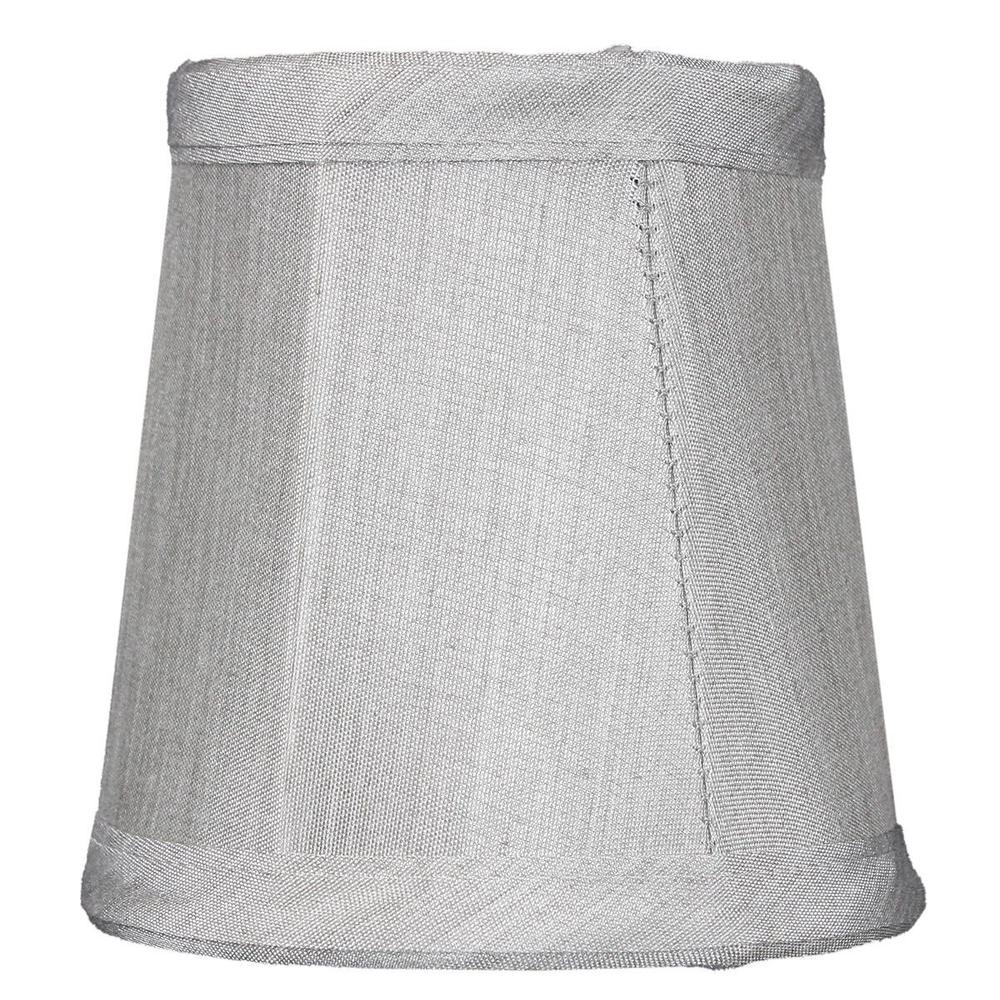"4""W x 4""H Set of 6 Gray Stretch Clip-On Candlelabra Clip-On Lamp shade"