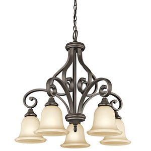 OPEN BOX Monroe 5-Light Chandelier 1 Tier Medium Olde Bronze