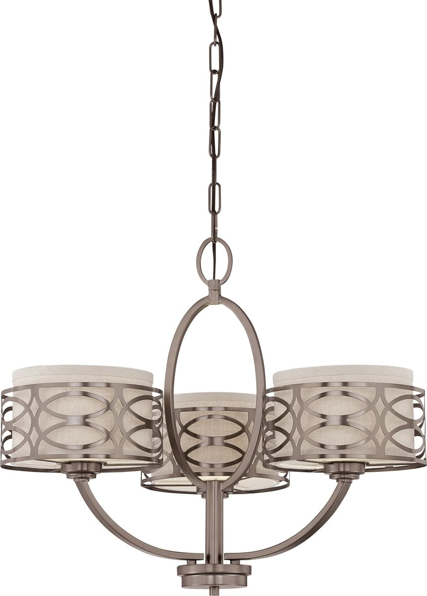 "25""W Harlow 3-Light Chandelier Hazel Bronze"