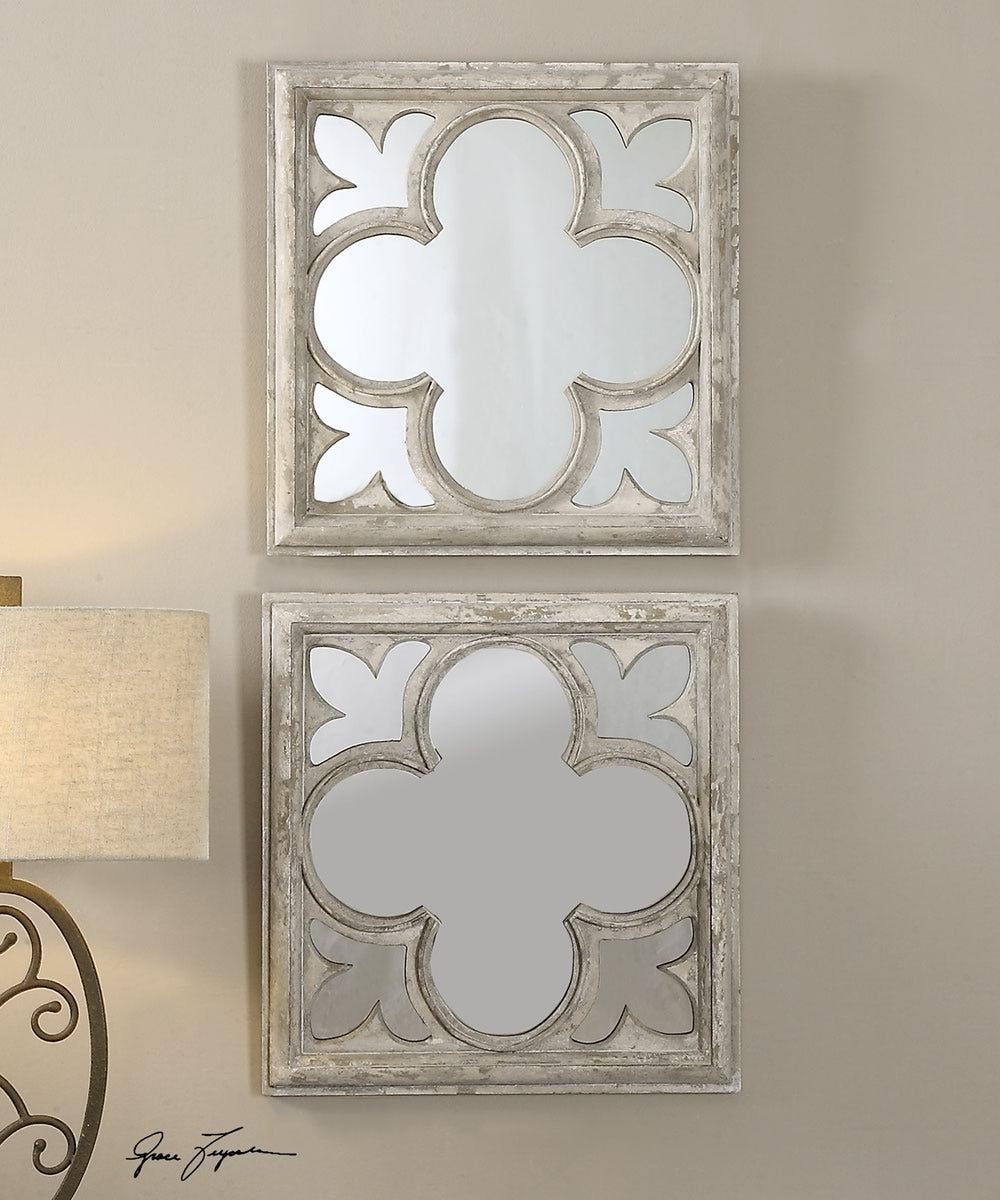 "21""H Vellauni Quatrefoil Mirrors Set of 2"