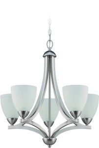 0-012655>Almeda 5-Light Chandelier Satin Nickel