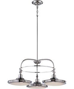 "30""W Houston 3-Light Chandelier Polished Nickel"