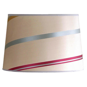 "14""W x 10""H Juliette Striped Raw Silk Drum Shade"