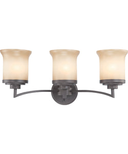 "25""W Harmony 3-Light Vanity & Wall Dark Chocolate Bronze"