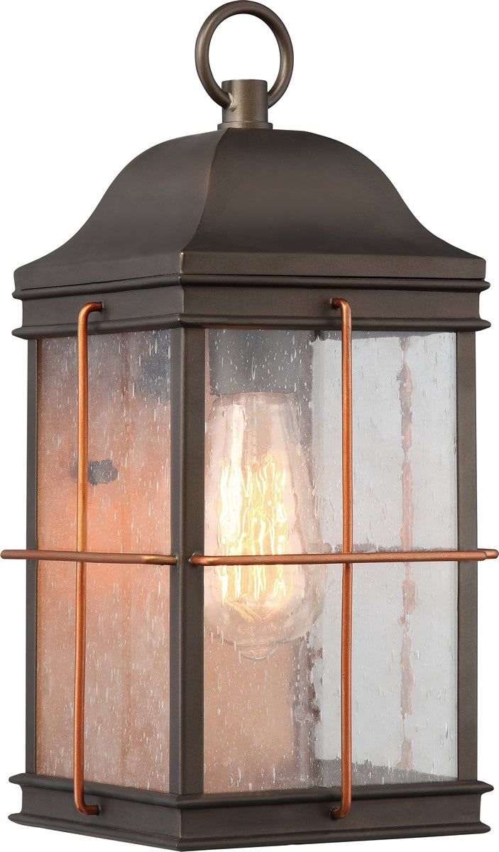 "14""H Howell 1-Light Outdoor Bronze / Copper Accents"