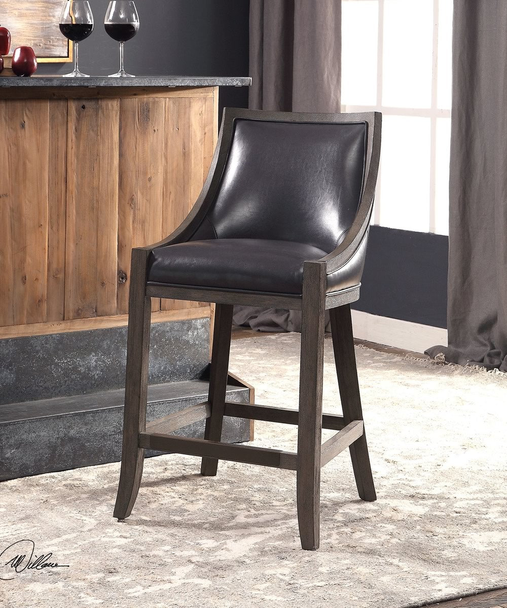 "39""H Elowen Leather Counter Stool"