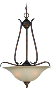0-006685>McKinney 3-Light Pendant Light Burleson Bronze