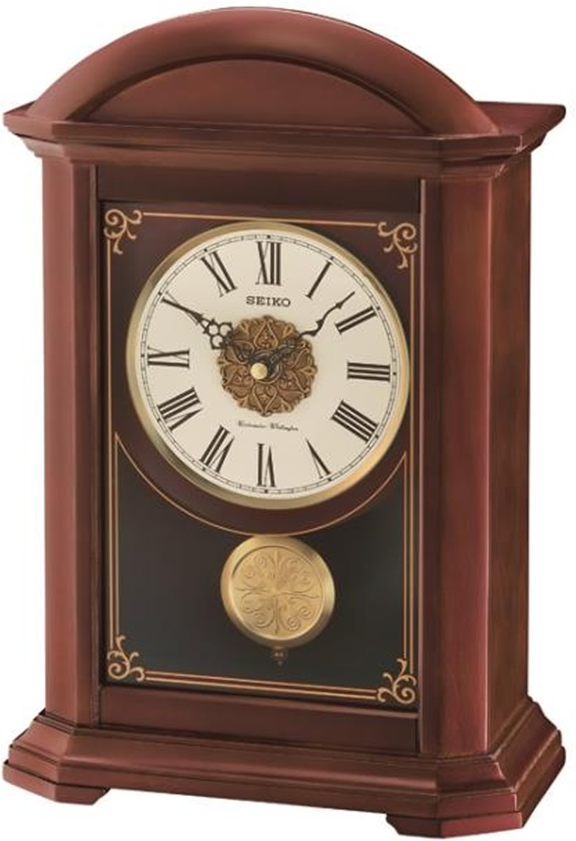 "10""H Mantel with Pendulum and Chime Clock"