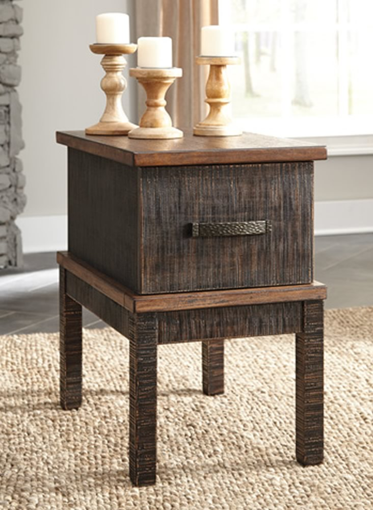 "25""H Stanah Chair Side End Table Two-tone"