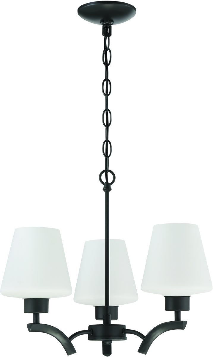 3-Light Mini Chandelier Espresso