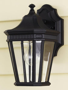 0-028924>12 inchh Cotswold Lane Outdoor Lantern Black
