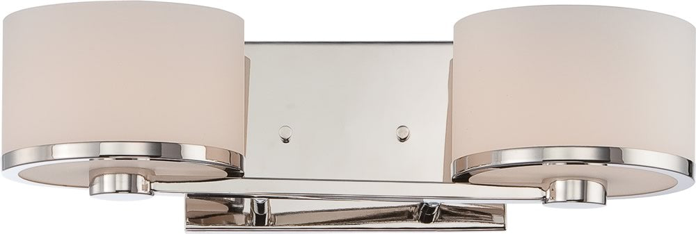 "16""W Celine 2-Light Vanity & Wall Polished Nickel"